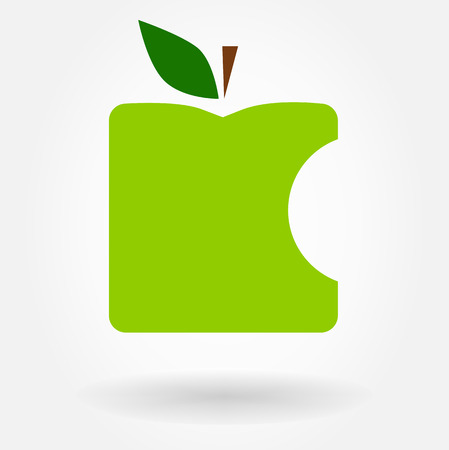 bite apple: Apple symbol  Vector illustration