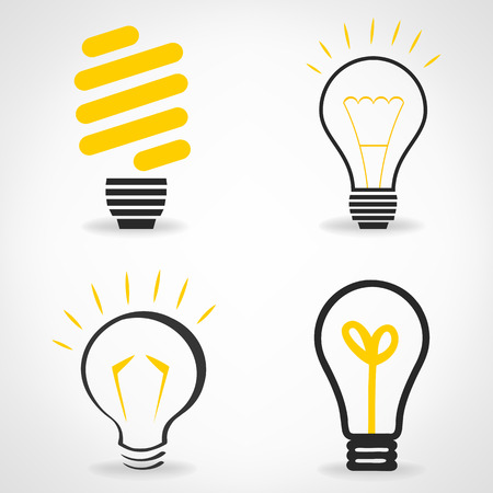 lightbulb symbol. Vector