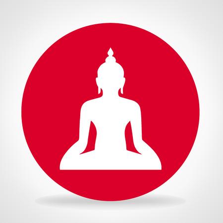 Buddha silhouette. Buddhism.