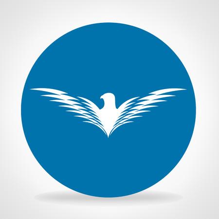 aguila volando: Bird símbolo