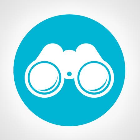 쌍안경 기호 일러스트