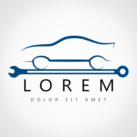 car seat: car symbol  Illustration