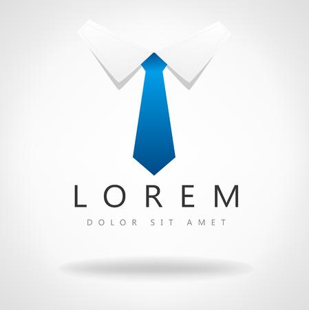 business symbol: Tie vector. Business symbol.