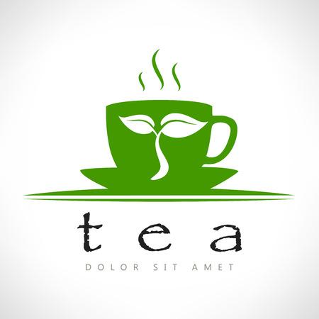 mint leaves: tea cup