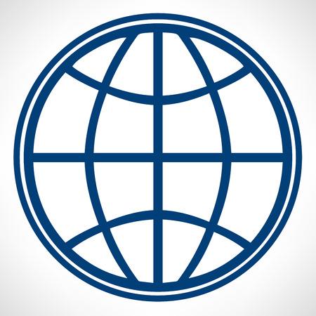 Vector globe icon Vector