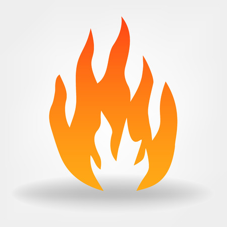 Fire image. Flames vector.