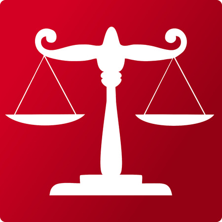 scale of justice: Scale of justice symbol