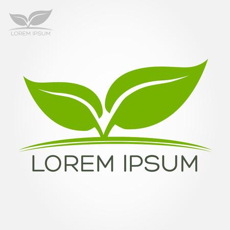 Eco symbol green leaf vector illustration Illustration