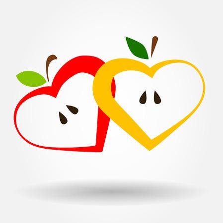 apple bite: Apple symbol. Vector illustration.