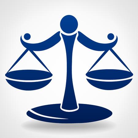 정의의 상징 규모 일러스트