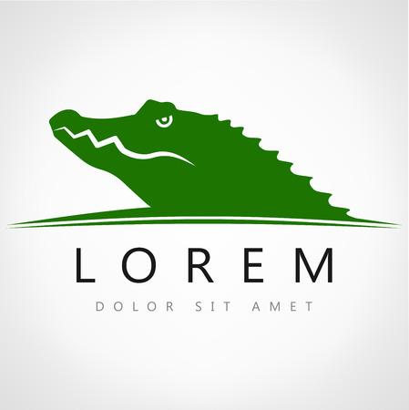 Vector image of an crocodile Stock Illustratie