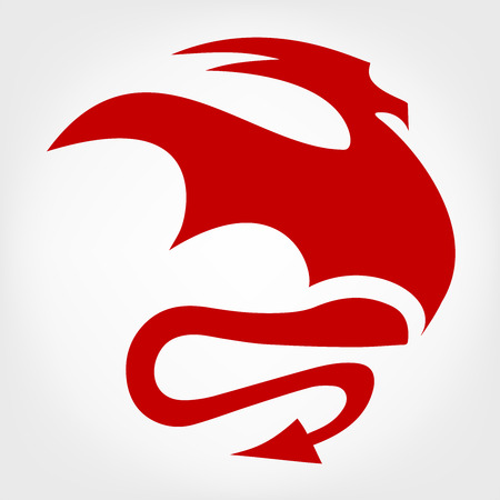 Dragon logo vector design template dragon icon. Vector
