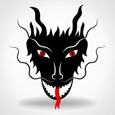 red dragon: Dragon logo vector design template dragon icon. Illustration