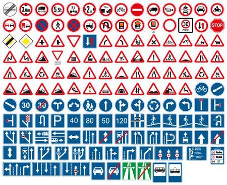 도로 표지판 일러스트