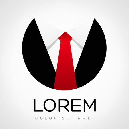 Business logo. Tie vector