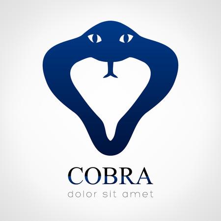 cobra snake: Cobra snake silhouette vector logo design