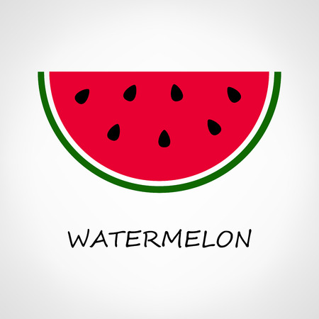 watermelon: Watermelon sliced isolated on a white background Illustration