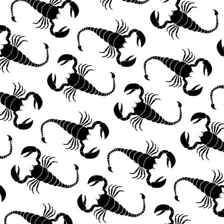 predatory insect: Scorpion vector Illustration