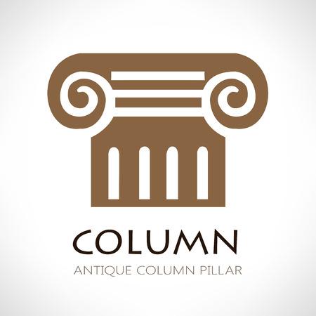 column: Antique column abstract sign