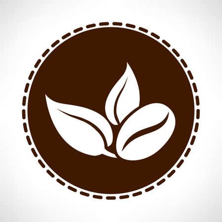 handful: Coffee bean vector