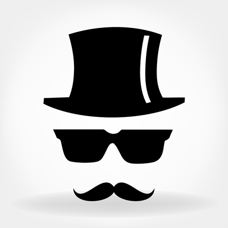 sideburn: Invisible man with hat glasses and mustaches