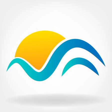 waves and sun symbol