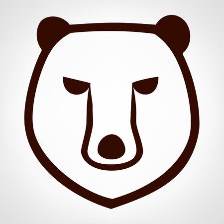 wilderness area: Bear illustration. Illustration