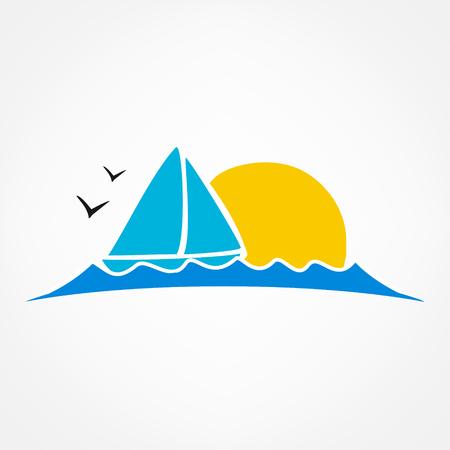 wave tourist: tourism symbol