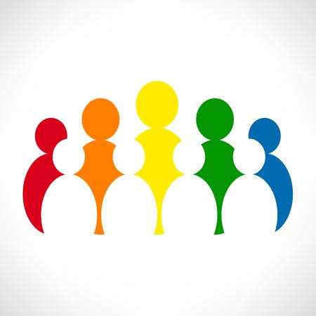 in unison: People illustration.