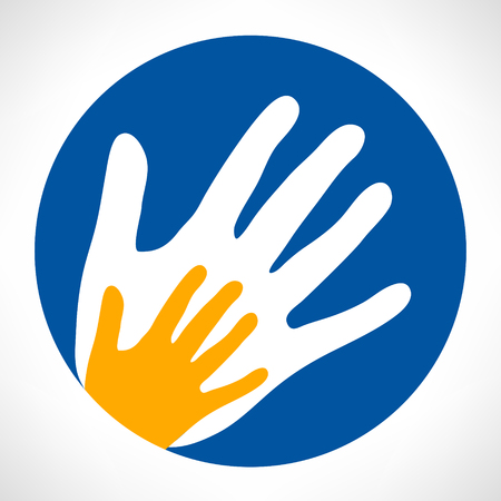 playschool: Hand prints vector logo