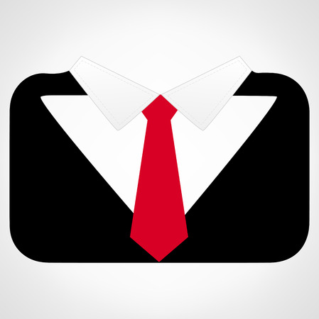 red tie: mens suit with a red tie vector Illustration