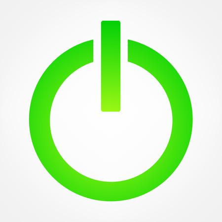 icon turn on symbol vector illustration Illustration
