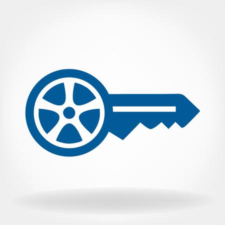 Autoschlüssel Vektor. Standard-Bild - 60345256