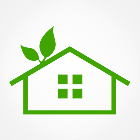 House abstract real estate countryside design template. Realty theme icon. Building vector silhouette.