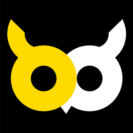 owl logo vector illustration Illustration