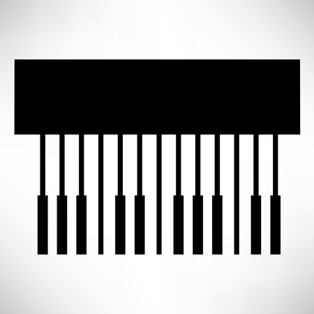piano key: piano key Illustration