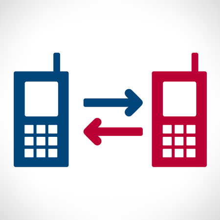 via: communication via telephone  vector