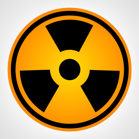 contaminated: Radiation Round   vector Illustration