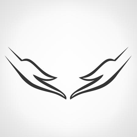 hands symbol bitmap