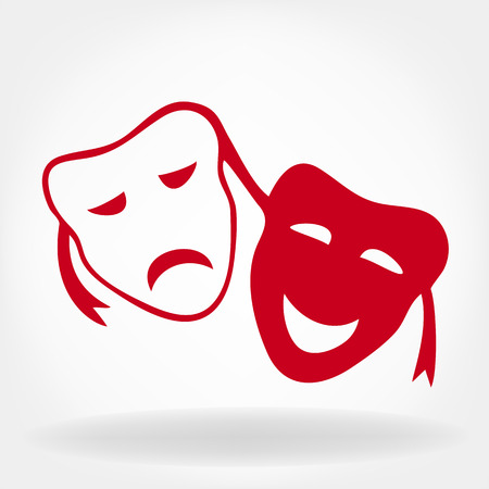 satire: Theatrical masks vector