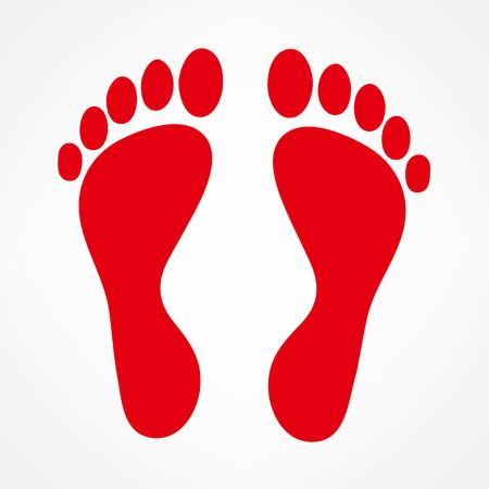 painted toes: Footprint vector