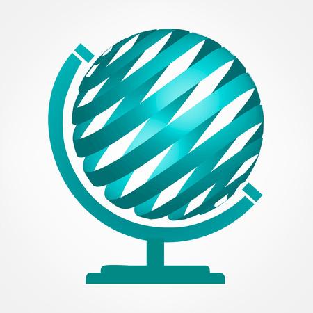 globe  the terrestrial ball: Globe symbol. Vector logo. Illustration
