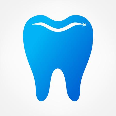 preening: tooth logo. vector illustration.