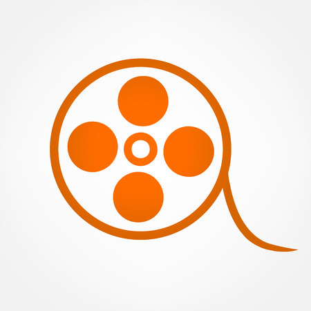 Movie symbol. Vector illustration.