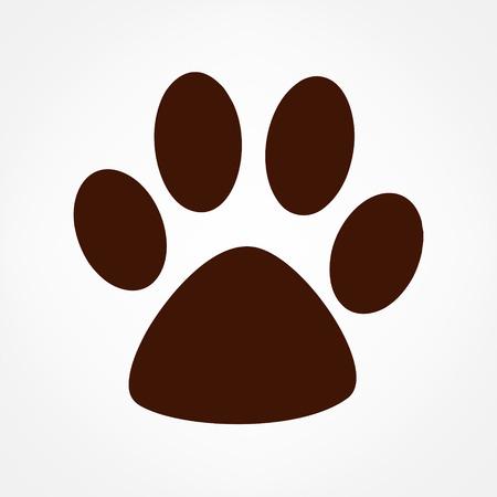 Paw print. Vector logo. Illustration