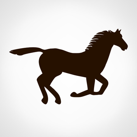 nag: Horse logo. Vector illustration.
