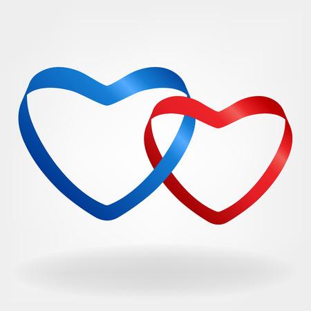 saint valentine s day: heart shape vector logo Illustration