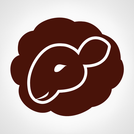 baa: Sheep logo. Lamb vector. Illustration