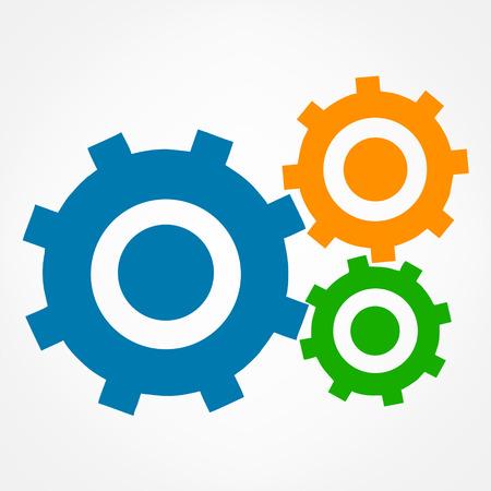 software design: gears logo vector