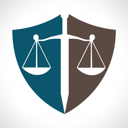 scale of justice: Scale of justice logo Illustration